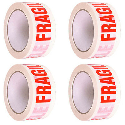 48mm X 66m FRAGILE PRINTED STRONG PARCEL TAPE PACKAGING BIG ROLL MULTI LISTING