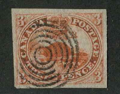 Canada #1 1851 3d Red Beaver - F-71 Used Example