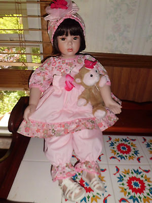 "Donna RuBert ""Teresa"" 24"" tall porcelain doll  w/coa 1 Paradise Galleries"