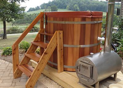 Complete Wood Fired Hot Tub - 4 person