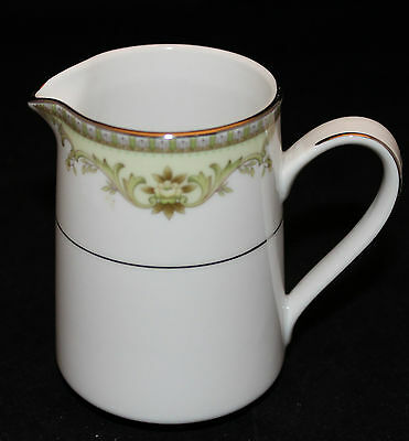 Vintage Noritake Contemporary Raleigh Creamer 2487 Japan Fine China Green Flower