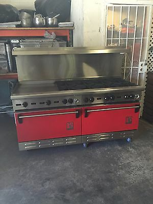 """Wolf Commercial Stove - 8 Burner With 24"""" Flat Grill & 2 Oven Below"""