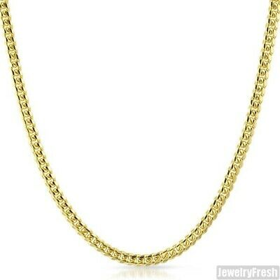 4mm 14k Gold Dipped 925 Silver Miami Cuban Chain Necklace