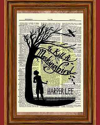 To Kill a Mockingbird Harper Lee Dictionary Art Print Book Picture Poster