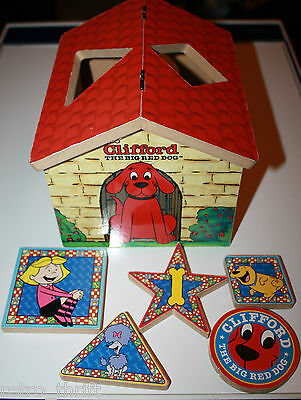 Clifford The Big Red Dog Wooden Shape Sorter Childrens Toy Scholastic