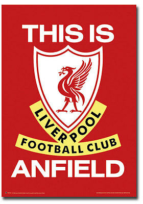 "This is Anfield Liverpool Football Club Logo Poster Fridge Magnet 2.5"" x 3.5"""
