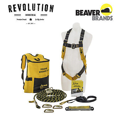 NEW Beaver B-Safe Tradie Roofers Safety Harness Kit - BK061215TRAD / BK061015
