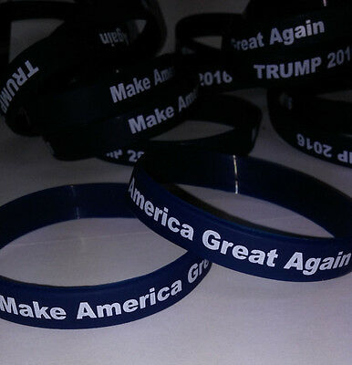 Trump 2016 Make America Great Again Silicone Wristbands Adult size