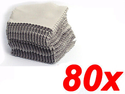 8cm x 8cm Buckskin Jewelry Cleaning Polishing Cloth Sterling Silver Gold Platinu