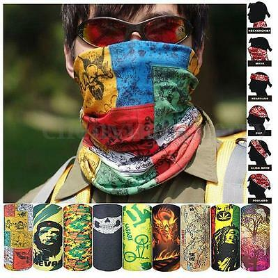 Multi Colors Head Face Mask Tube Scarf Bandana Neck Gaiter Snood Biker Headwear