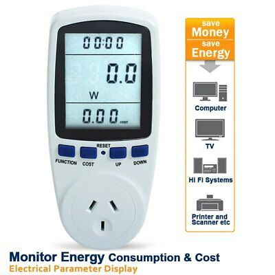 Power Meter Energy Monitor Watt Voltage Volt Electricity Analyzer AU Plug Socket