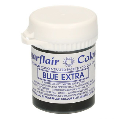 BLUE  EXTRA - SUGARFLAIR MAXIMUM CONCENTRATED FOOD COLOUR - ICING COLOR - 42gm