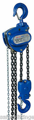 LiftinGear 5000kg x 10mtr Chain Block & Tackle Manual Hand Lifting Pulley Hoist
