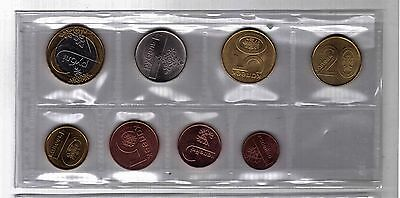 Belarus - New Issue 8 Dif Unc Coins Set: 0.01 - 2 Roubles 2009 Year Bimetal