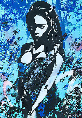 COPYRIGHT Sadness Silkscreen spray paint & acrylic | Urban, Street art, graffiti