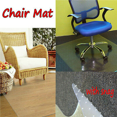 PVC Anti-slip Carpet Protector Home Office Chair Mat Non Slip Frosted UK
