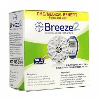 Bayer Breeze2 Test Strips 50 Count *GREAT VALUE BUY!*