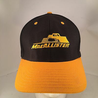 MacAllister Machinery CAT Black Gold Embroidered Double Row Snapback Hat Cap