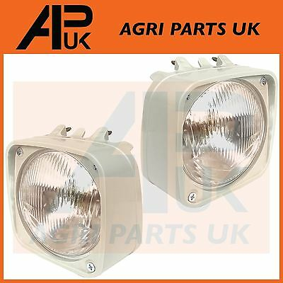 PAIR Ford New Holland 4610,5610,6610,7610,7810 Tractor Headlight Headlamp & Cowl
