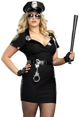 Plus Size womens police officer cop dress costume