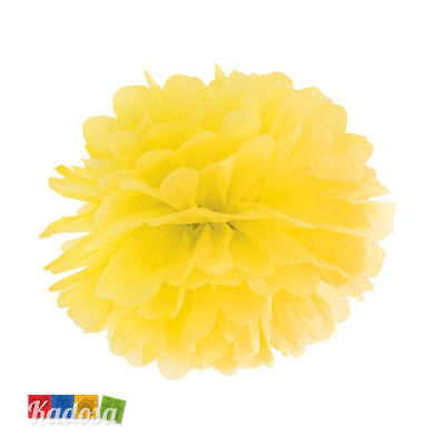 Pom Pom di Carta GIALLO 25 cm - Decorazioni Tissue Party Matrimonio Wedding