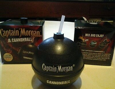 2 - NEW IN BOX Captain Morgan Cannonball Limited Edition Plastic Cup .