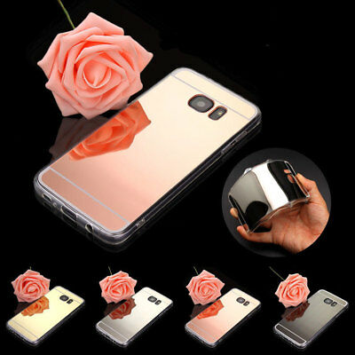 Luxury Ultra-Thin Mirror Silicone Gel TPU Case Cover For Samsung Galaxy Phones