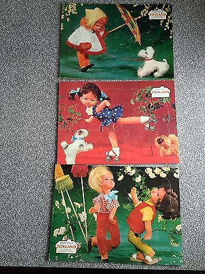3 Tray Jigsaw Puzzle Girl Boy Dog Skate Children Fairchild Toyland Rochester R5