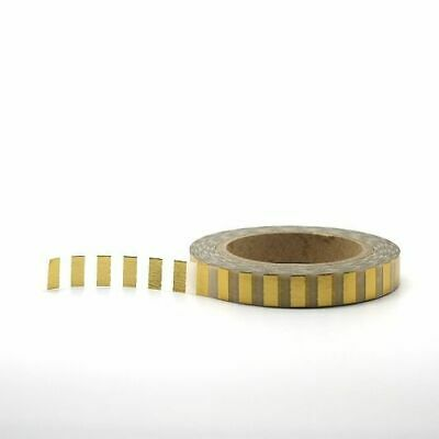 Foil Washi Tape - Skinny Gold Foil Chunky Stripes 7.5mm x 10m Beautiful
