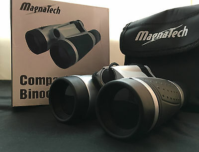 Magnatech Compact Binoculars with protective pouch and belt loop