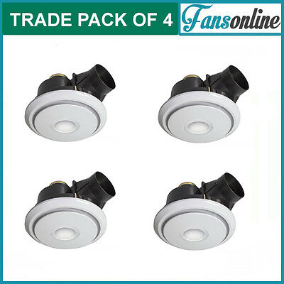 Fanco Luna LED 250 Exhaust Fan with Light - White | **TRADE PACK OF 4