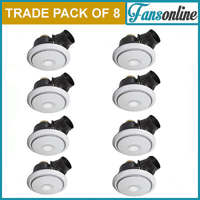 Fanco Luna LED 250 Exhaust Fan with Light - White | **TRADE PACK OF 8