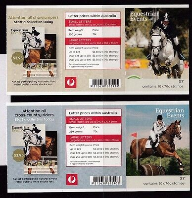 Australia 2014 Equestrian Events Set of 5 Booklets - Phil Barcodes