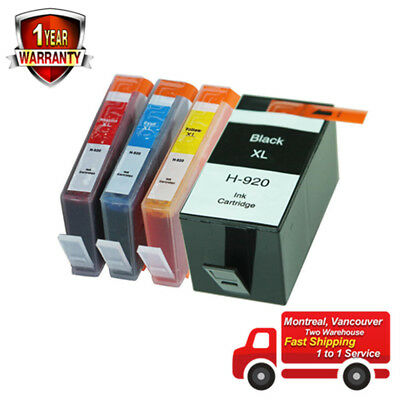 4PK ink for HP 920XL OfficeJet 6000 6500 6500A 7000  7500A