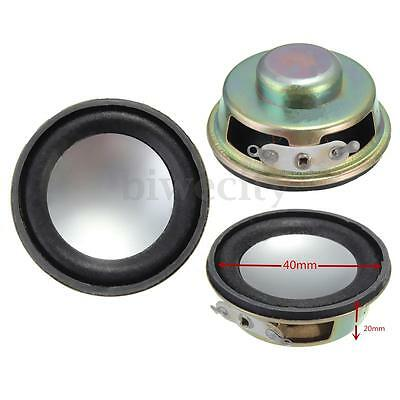 "2Pcs 1.5"" Inch 4Ohm 4Ω 3W Full Range Audio Waterproof Stereo Speaker Loudspeaker"