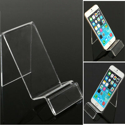Clear Acrylic Transparent Mobile Phone Display Stand Mount Holder Rack Bracket