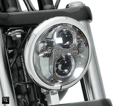 """5 3/4"""" Chrome LED Projector Daymaker Headlight For Harley Sportster XL 1200 883"""