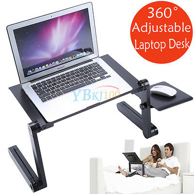 Portable Laptop Computer TV Desk Notebook Stand Table Tray Mouse holder Sofa Bed