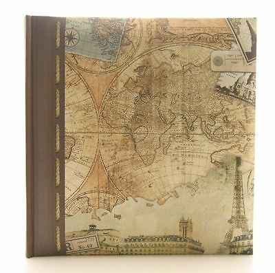 "Kenro Holiday Old World Map Photo Album for 200 7x5"" / 13x18cm"