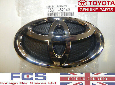 New* Genuine 05-11 Toyota Yaris Front Badge Emblem Grille 75311-52140