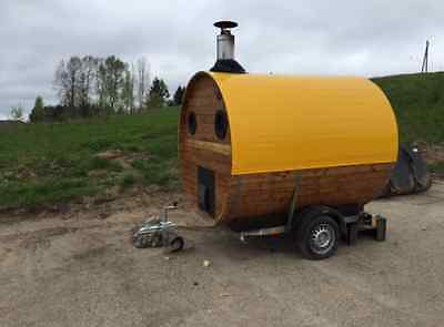 mobile wooden trailer sauna, ideal for rent a sauna