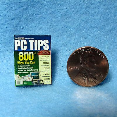 Dollhouse Miniature Computer PC Tips Magazine ~ Cover Only