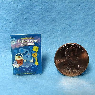Dollhouse Miniature Replica of Childrens Blues Clues Book Magazine ~ Cover Only
