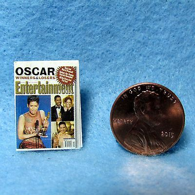 Dollhouse Miniature Replica of Entertainment Magazine ~ Cover Only