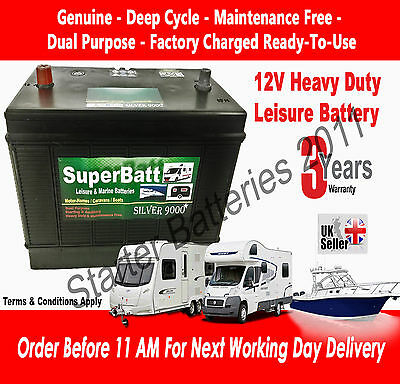 12V 130AH VDC130 Heavy Duty Ultra Deep Cycle Leisure Marine Battery 500 Cycles