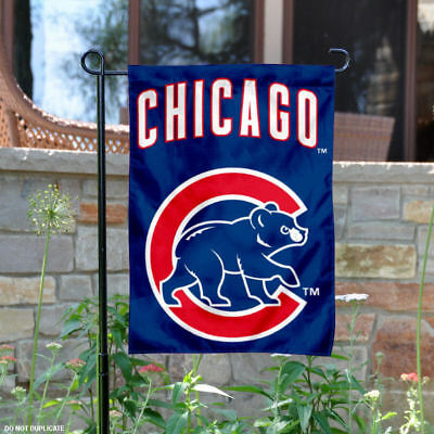 Chicago Cubs Walking Bear Garden Flag and Yard Banner 894aa620f