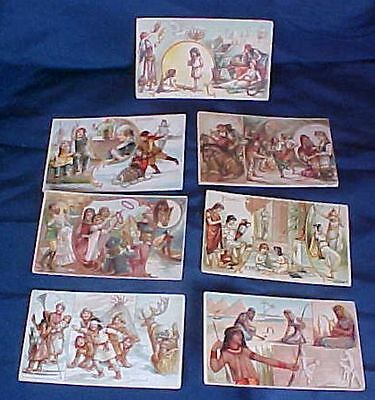 7 Arbuckle Bros. Coffee Co. Trade Cards Sports Pastimes of Nations Egypt Poland