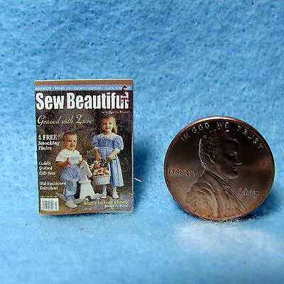 Dollhouse Miniature Replica of Sew Bewautiful Magazine ~ Cover Only