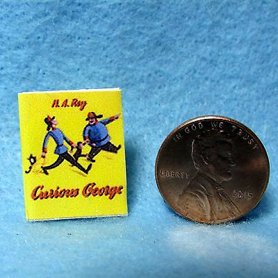 Dollhouse Miniature Replica of Curious George Book ~ Cover Only