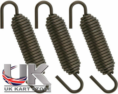 High Tension Exhaust Spring 70mm Swivel End x 3 UK KART STORE